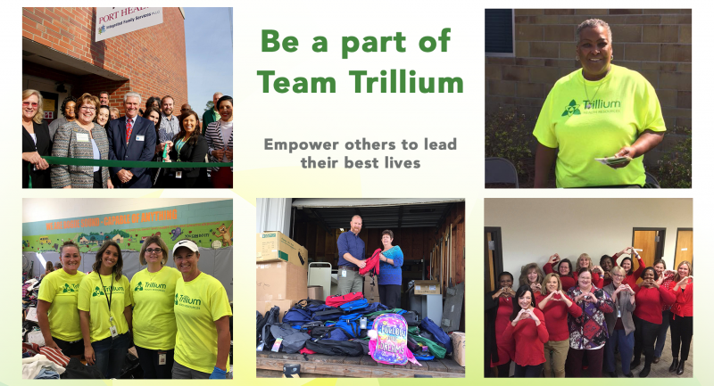 Trillium employees collage