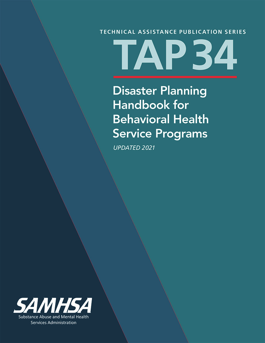 image of front page of Samhsa Disaster Planning handbook
