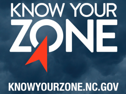 image blue background with white words saying: Know your Zone