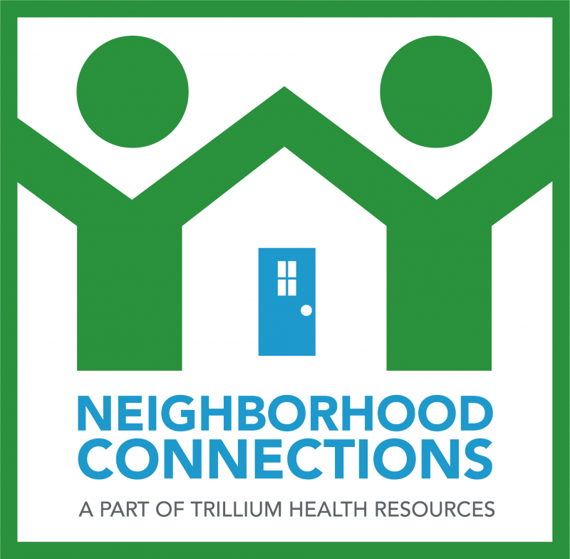 Neighborhood Connections Logo shiloutte holding hands