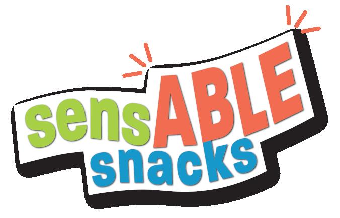 words Sensable Snacks in color