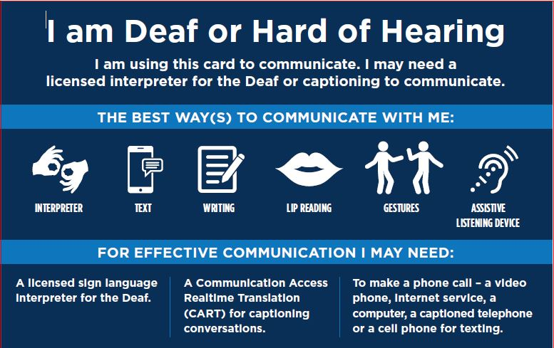 I am deaf Card
