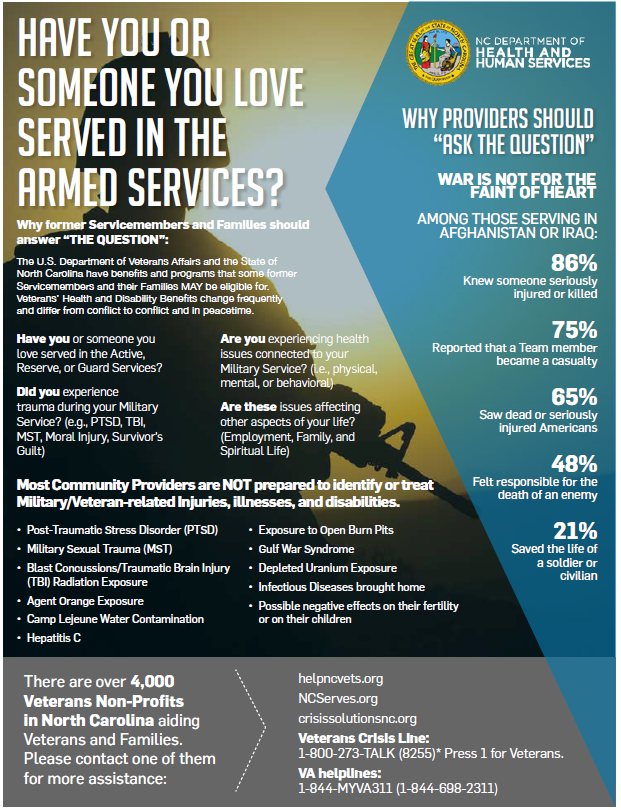 Veteran information flyer