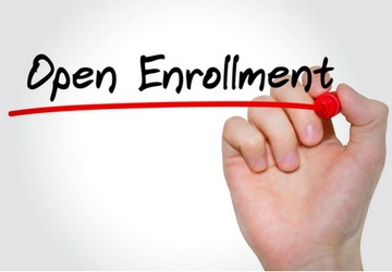 Hand writing open enrollment