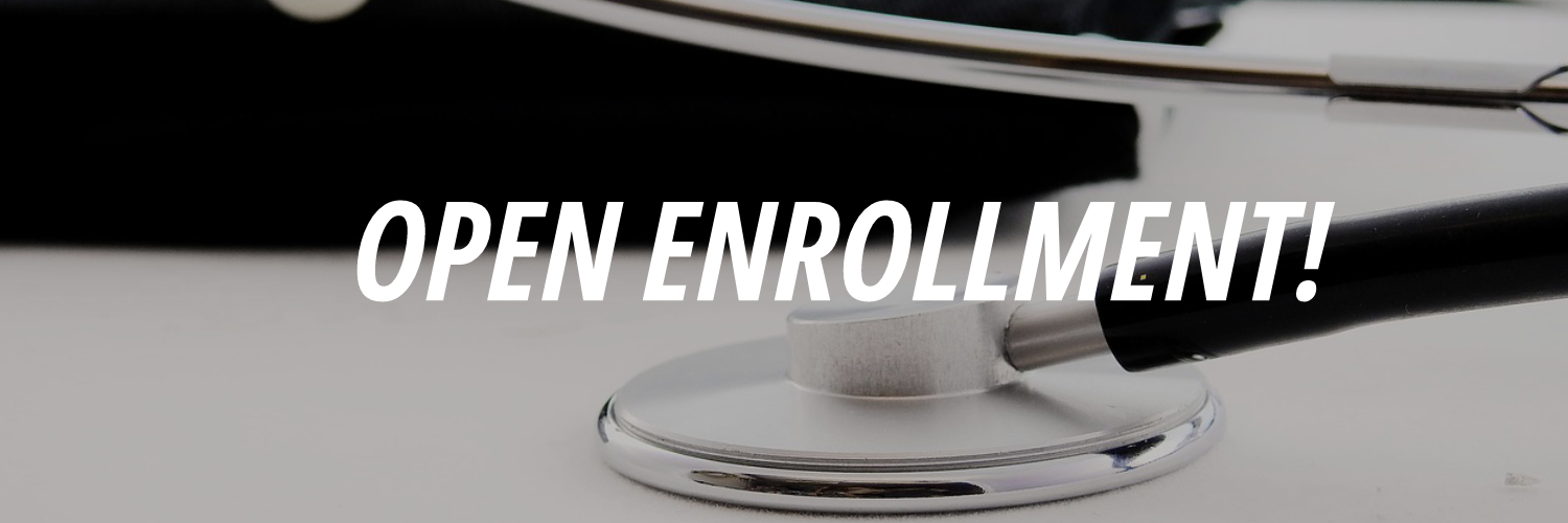 Stethoscope with Open enrollment letters