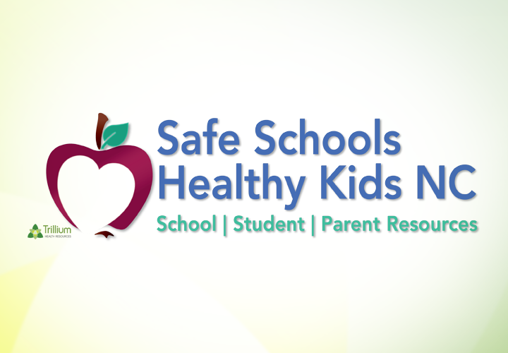 Safe Schools Healthy Kids Logo - Apple design with name in blue